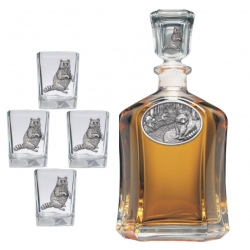 Racoon Capitol Decanter Set