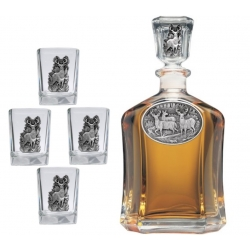 Whitetail Deer Capitol Decanter Set