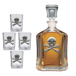 Skull & Bones Capitol Decanter Set