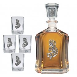 Kokopelli Capitol Decanter Set