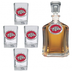 University of Arkansas Capitol Decanter Set - Enameled