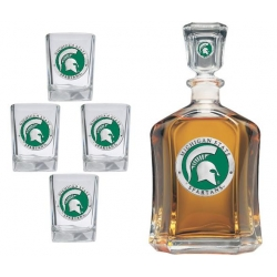 Michigan State University Capitol Decanter Set - Enameled