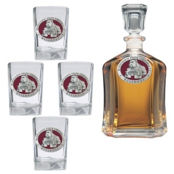 "Mississippi State University ""Bulldogs"" Capitol Decanter Set - Enameled"