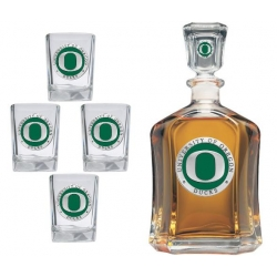University of Oregon Capitol Decanter Set - Enameled