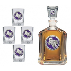 Stephen F. Austin University Capitol Decanter Set - Enameled