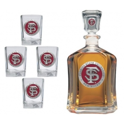Florida State University Capitol Decanter Set - Enameled