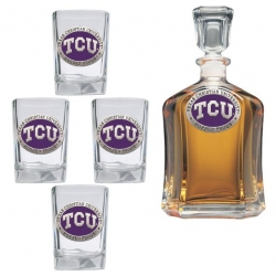 Texas Christian University Capitol Decanter Set - Enameled