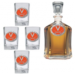 University of Virginia Capitol Decanter Set - Enameled