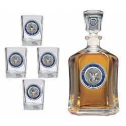 Navy Capitol Decanter Set - Enameled
