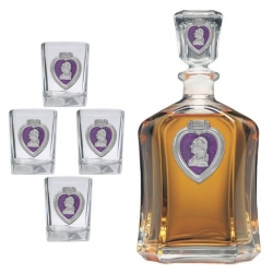 Purple Heart Capitol Decanter Set - Enameled