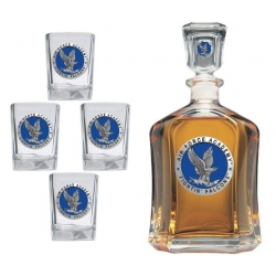 Air Force Academy Capitol Decanter Set - Enameled