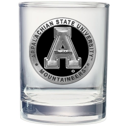 Appalachian State University Double Old Fashioned Glass - Enameled