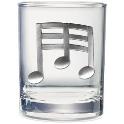 Musical Notes Double Old Fashioned Glass
