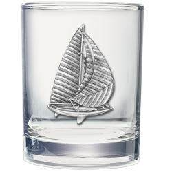 Sail Boat Double Old Fashioned Glass