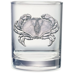 Sand Crab Double Old Fashioned Glass