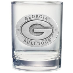 """University of Georgia """"G"""" Double Old Fashioned Glass"""
