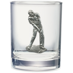Golfer Double Old Fashioned Glass