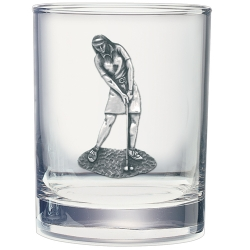 Lady Golfer Double Old Fashioned Glass