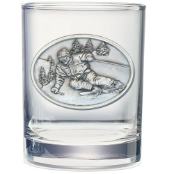 Skier Double Old Fashioned Glass