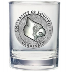 University of Louisville Double Old Fashioned Glass