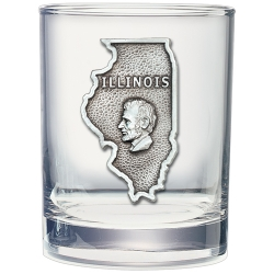Illinois Double Old Fashioned Glass