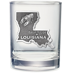 Louisiana Double Old Fashioned Glass