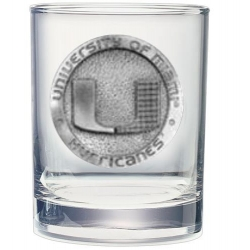 University of Miami Double Old Fashioned Glass