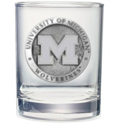 University of Michigan Double Old Fashioned Glass