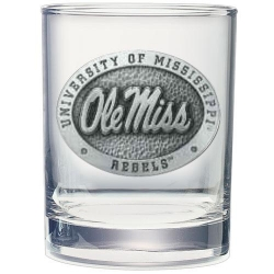 University of Mississippi Double Old Fashioned Glass