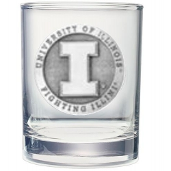 University of Illinois Double Old Fashioned Glass