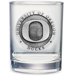University of Oregon Double Old Fashioned Glass