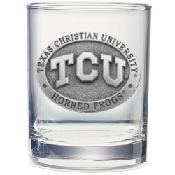 Texas Christian University Double Old Fashioned Glass