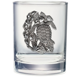 Sea Turtle Double Old Fashioned Glass