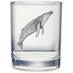Humpback Whale Double Old Fashioned Glass