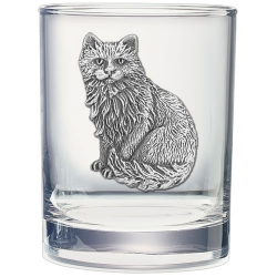 Cat Sitting Double Old Fashioned Glass