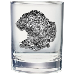 Bichon Frise Double Old Fashioned Glass