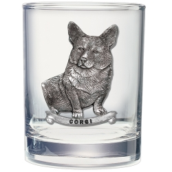 Corgi Double Old Fashioned Glass