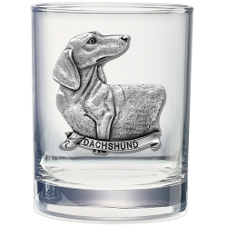 Dachshund Double Old Fashioned Glass