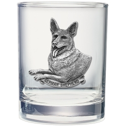 German Shepherd Double Old Fashioned Glass