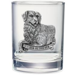 Golden Retriever Double Old Fashioned Glass