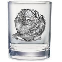 Pomeranian Double Old Fashioned Glass