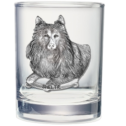 Shetland Sheepdog Double Old Fashioned Glass