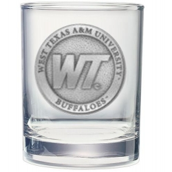 West Texas A&M University Double Old Fashioned Glass