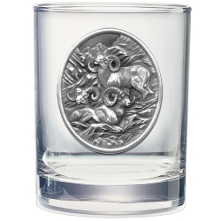 Bighorn Sheep Double Old Fashioned Glass #2