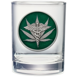 Marijuana #2 Double Old Fashioned Glass - Enameled