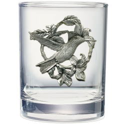 Hummingbird Double Old Fashioned Glass #2