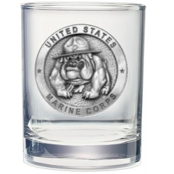 "Marine Corps ""Bulldogs"" Double Old Fashioned Glass"