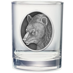 Black Bear Double Old Fashioned Glass