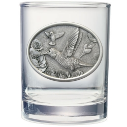 Hummingbird Double Old Fashioned Glass