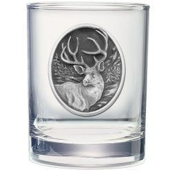 Mule Deer Double Old Fashioned Glass